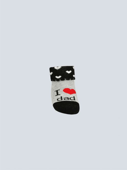 BROSS Baby Thermo-Stoppersocken I love Dad 3 Paar