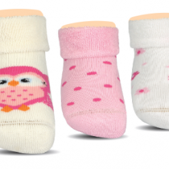 BROSS Baby Thermo-Stoppersocken Eule 3 Paar