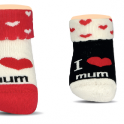 BROSS Baby Thermo-Stoppersocken I love Mum 3 Paar