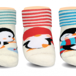 BROSS Baby Thermo-Stoppersocken Pinguin 3 Paar
