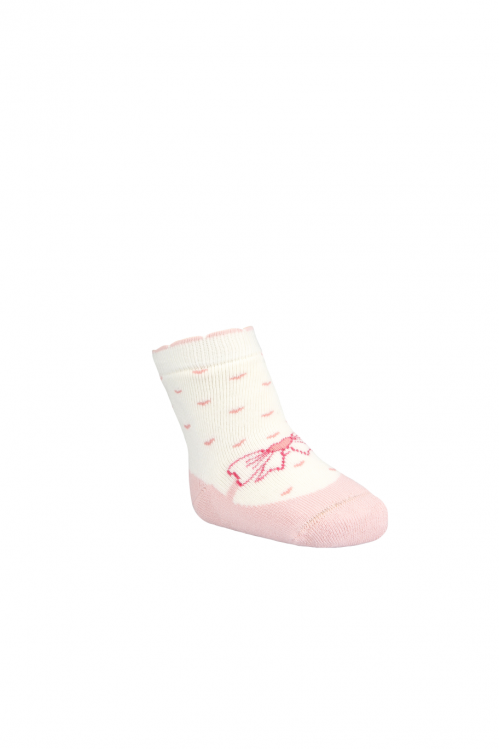 BROSS Baby Thermo-Stoppersocken Schleifen rosa