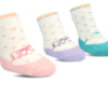 BROSS Baby Thermo-Stoppersocken Schleifen rosa, lila, türkis, 3 Paar